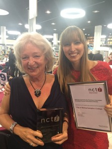 Sue Green and Dani Wozencroft with their awards