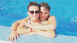 Charlotte and Reece enjoy a sunny romantic getaway. Picture: Charlotte's Instagram page