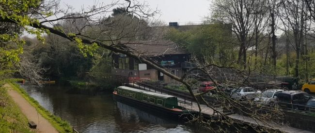 An activity centre on the shore of a Wolverhampton canal